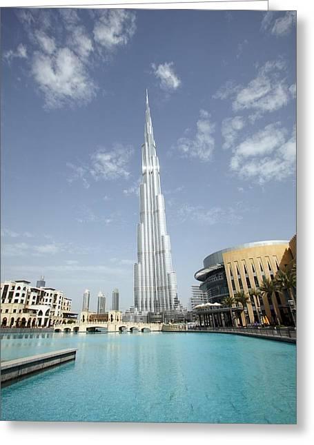 21st Greeting Cards - Burj Khalifa skyscraper, Dubai Greeting Card by Science Photo Library