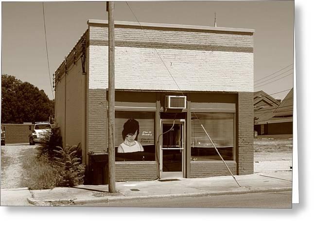 Burlington North Carolina - Small Town Business Greeting Card by Frank Romeo