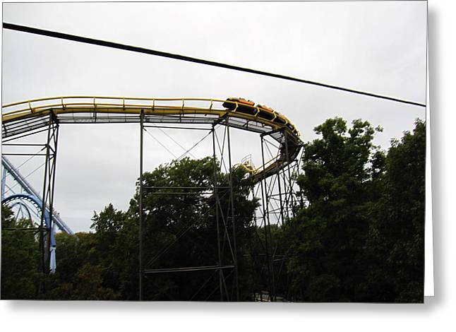 Screaming Greeting Cards - Busch Gardens - 12128 Greeting Card by DC Photographer