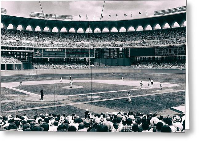 Busch Greeting Cards - Busch Stadium - St Louis 1966 Greeting Card by Mountain Dreams