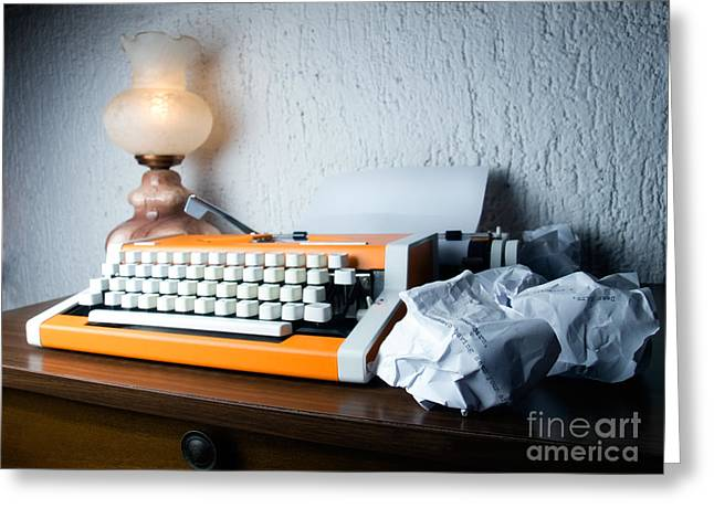 Typewriter Keys Greeting Cards - Business letter Greeting Card by Sinisa Botas