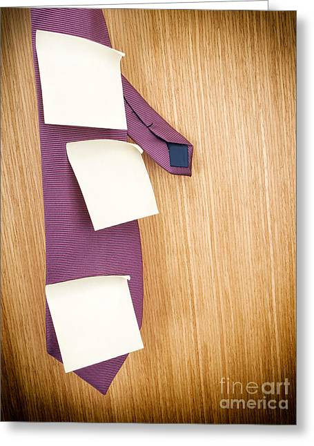 Business Schedule Greeting Card by Sinisa Botas