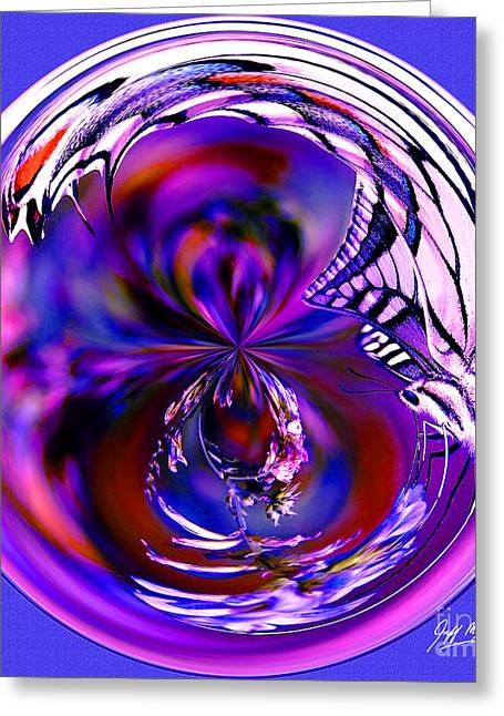 Fractal Orbs Greeting Cards - Butterfly Orb III Greeting Card by Jeff McJunkin
