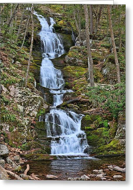 Buttermilk Falls Greeting Cards - Buttermilk Falls New Jersey Greeting Card by Allen Beatty