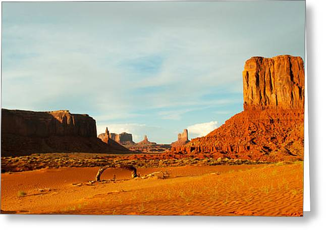 Geology Photographs Greeting Cards - Buttes Rock Formations At Monument Greeting Card by Panoramic Images