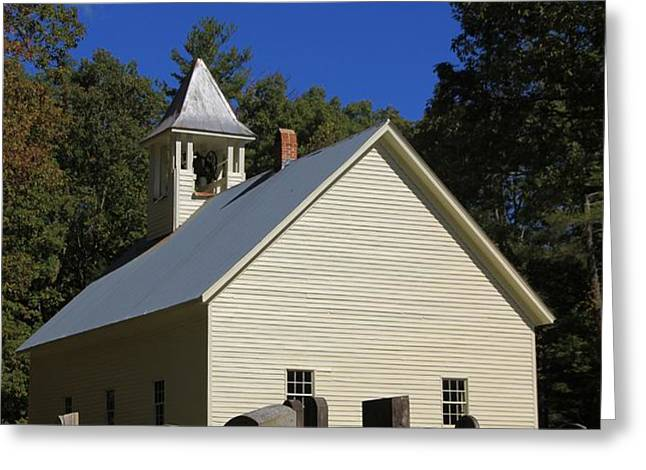 Cades Cove Primitive Baptist Church Greeting Card by Dan Sproul