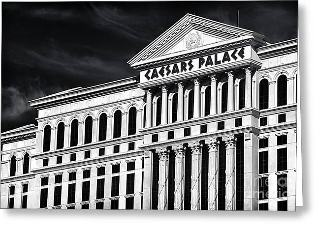 Caesars Palace Greeting Cards - Caesars Palace Greeting Card by John Rizzuto