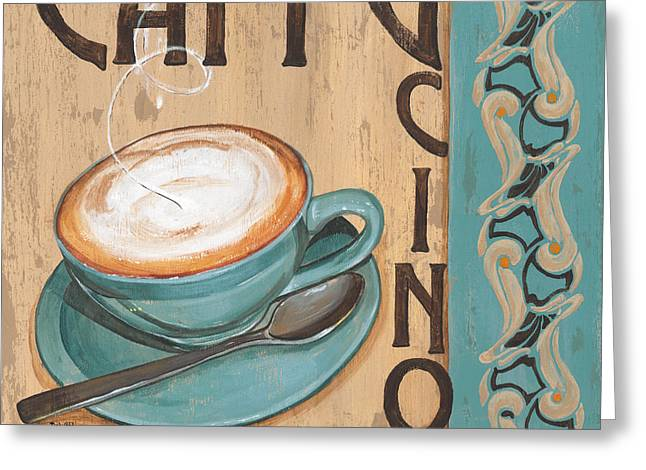 Espresso Greeting Cards - Cafe Nouveau 1 Greeting Card by Debbie DeWitt