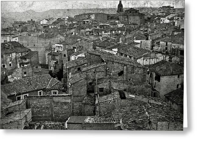Rioja Greeting Cards - Calahorra roofs from the bell tower of Saint Andrew church Greeting Card by RicardMN Photography