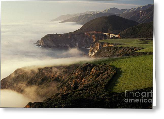 Bixby Bridge Greeting Cards - California Coast Greeting Card by Ron Sanford