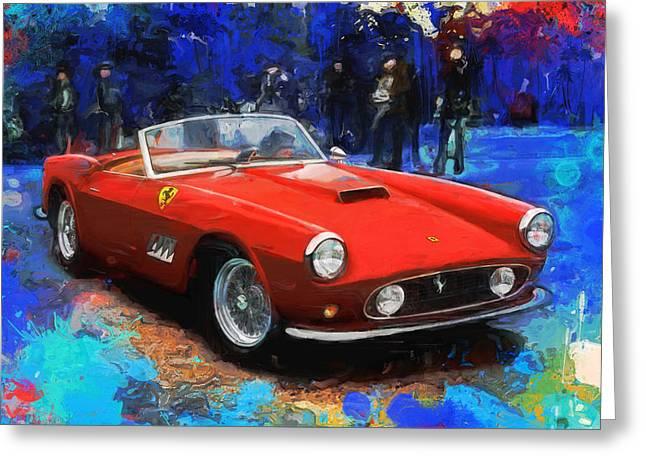 Ferrari 250 Gto Greeting Cards - California Dreamin Greeting Card by Alan Greene