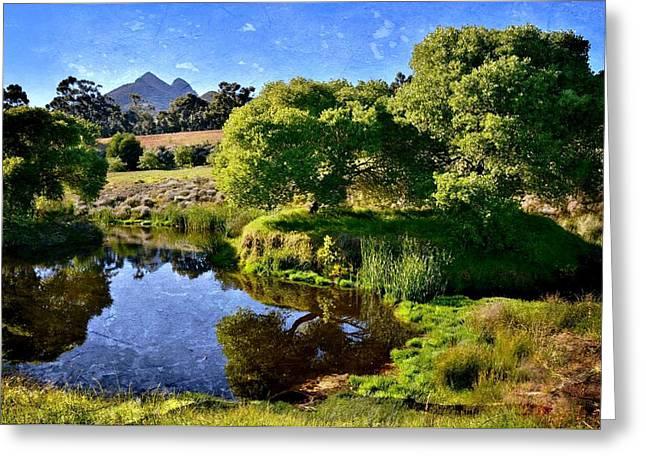 Stellenbosch Greeting Cards - Calm Day Greeting Card by Werner Lehmann