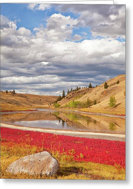 Canada, British Columbia, Kamloops, Lac Greeting Card by Jaynes Gallery