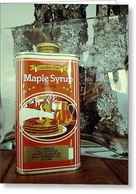 Maple Syrup Greeting Cards - Canadian Pure Greeting Card by Natasha Marco