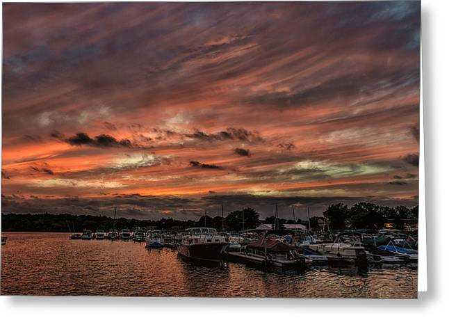 Canandaigua Greeting Cards - Canandaigua City Pier Boathouses Greeting Card by James  Montanus