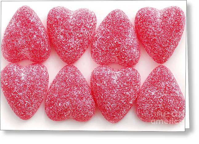 Affectionate Greeting Cards - Candy hearts Greeting Card by Elena Elisseeva