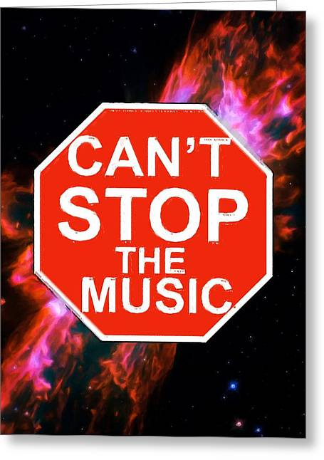 Traffic Control Greeting Cards - Cant Stop The Music Greeting Card by Andrew Hunt
