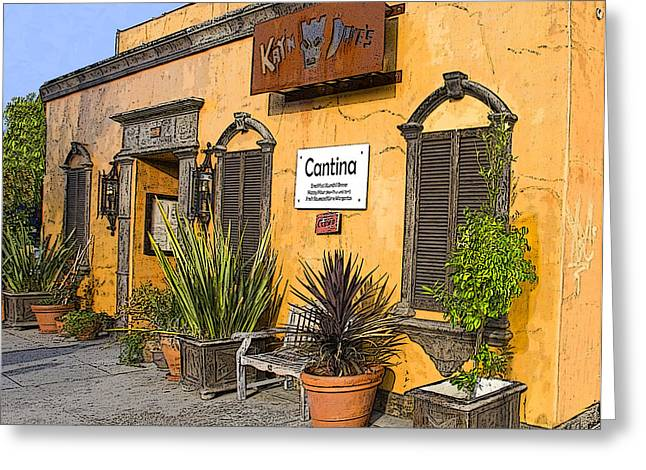 Best Seller Greeting Cards - Cantina Greeting Card by Chuck Staley