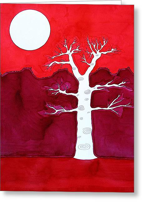 Pen And Paper Greeting Cards - Canyon Tree original painting Greeting Card by Sol Luckman