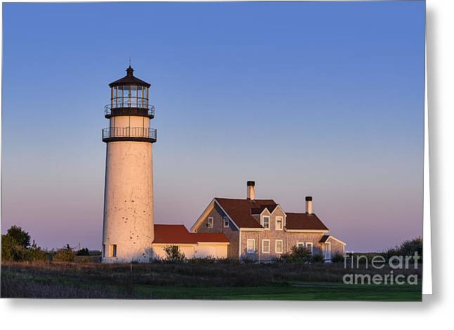 Keepers House Greeting Cards - Cape Cod Lighthouse Greeting Card by John Greim