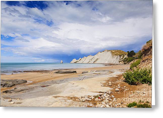 Beach Scenery Greeting Cards - Cape Kidnappers Hawkes Bay New Zealand Greeting Card by Colin and Linda McKie