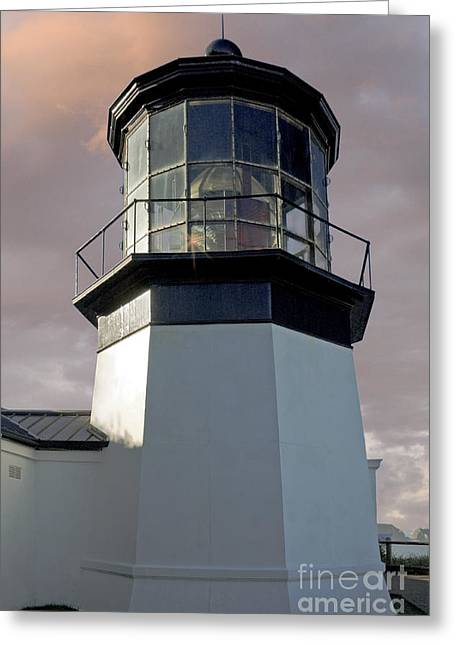 Fresnel Greeting Cards - Cape Meares Lighthouse Greeting Card by Richard and Ellen Thane