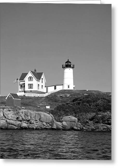 Cape Neddick Greeting Cards - Cape Neddick Light Station Maine Greeting Card by Mountain Dreams