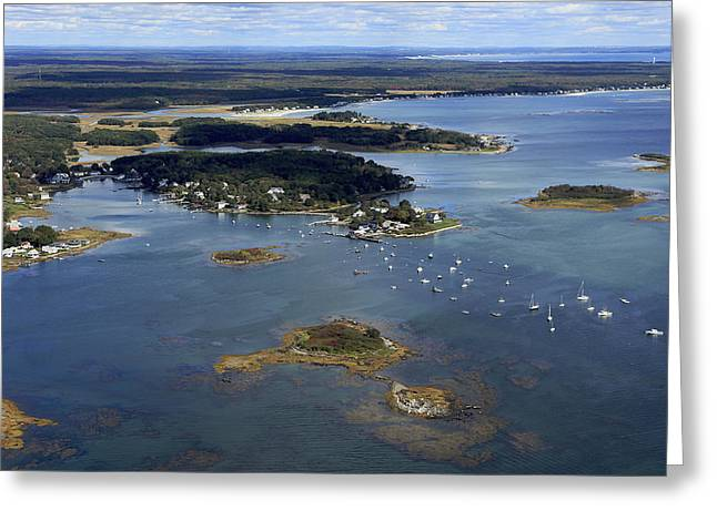 Maine Beach Greeting Cards - Cape Porpoise Harbor, Kennebunkport Greeting Card by Dave Cleaveland