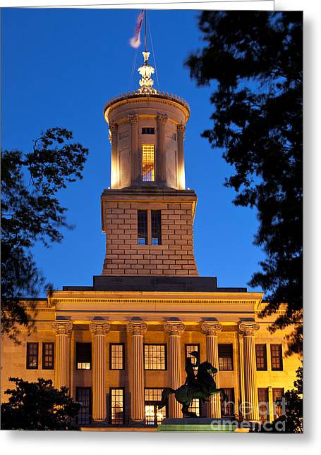 Nashville Tennessee Greeting Cards - Capital Building Greeting Card by Brian Jannsen