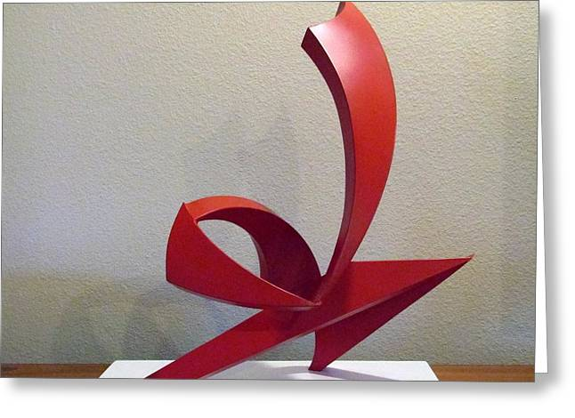 Abstract Movement Sculptures Greeting Cards - Capoeira Greeting Card by John Neumann