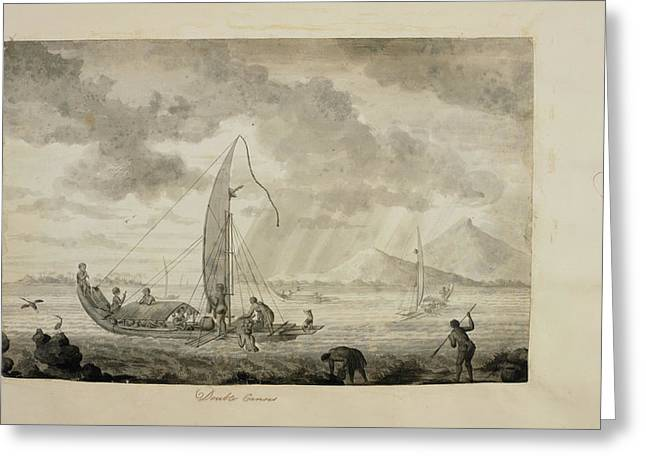 Captain Cook's First Voyage Of Exploratio Greeting Card by British Library