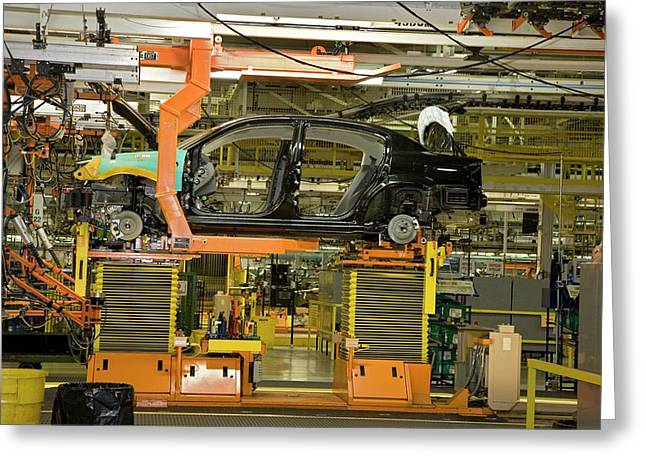 Car Assembly Production Line Greeting Card by Jim West