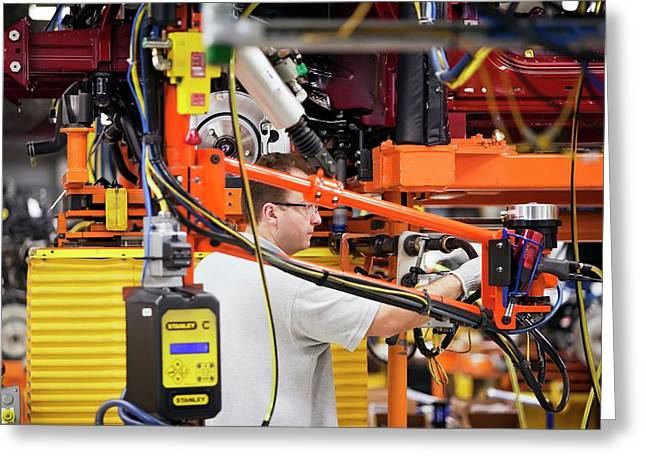 Car Production Assembly Line Greeting Card by Jim West