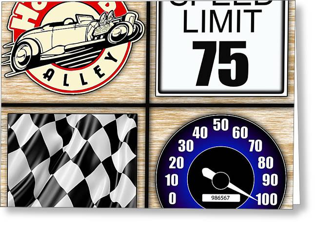 Racing Car Greeting Cards - Speed Demon Art for Boys and Men Greeting Card by Marvin Blaine