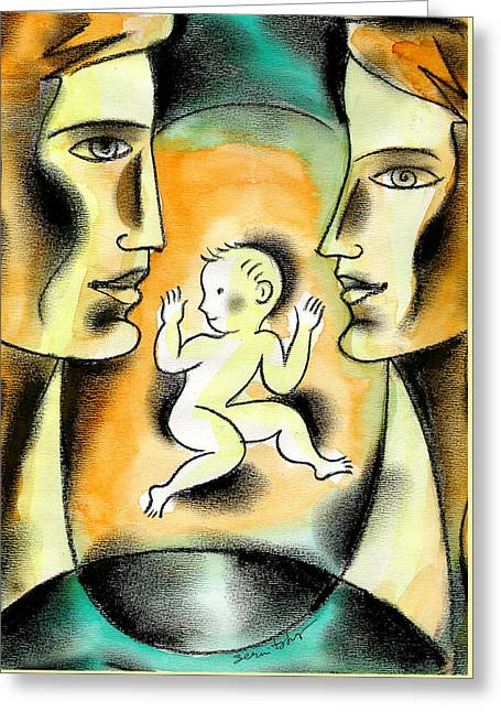 Caring Family Greeting Card by Leon Zernitsky