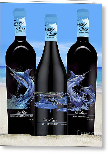 Hatteras Glass Greeting Cards - Carey Chen fine art wines Greeting Card by Carey Chen