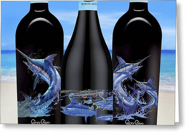 Carey Chen fine art wines Greeting Card by Carey Chen
