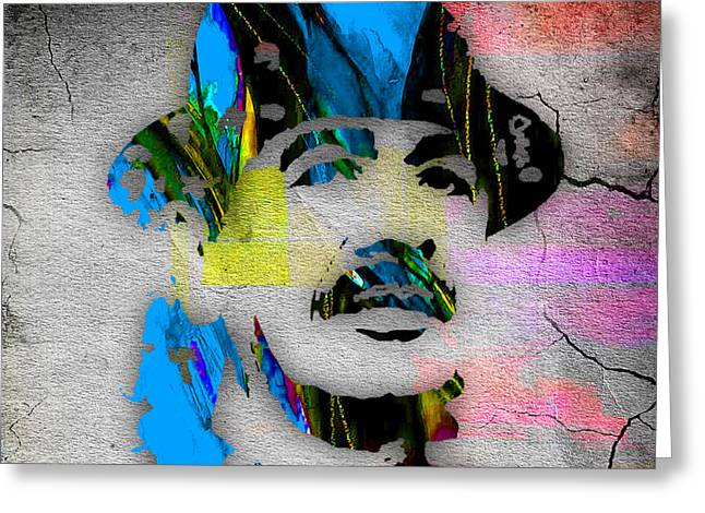Carlos Santana Greeting Card by Marvin Blaine