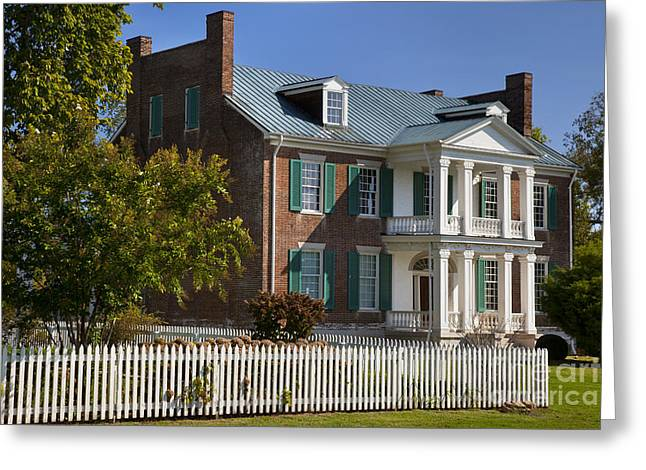 Battle Of Franklin Greeting Cards - Carnton Plantation Greeting Card by Brian Jannsen