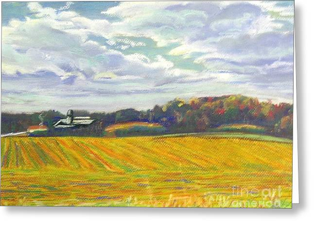 North Pastels Greeting Cards - Carrboro Farm II Greeting Card by Frank Giordano