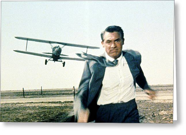 1950 Movies Greeting Cards - Cary Grant in North by Northwest  Greeting Card by Silver Screen