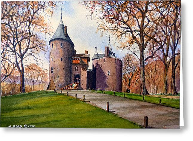 Fall Grass Greeting Cards - Castell Coch  Greeting Card by Andrew Read