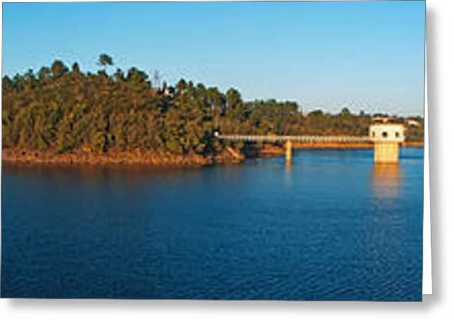 Public Water Supply Greeting Cards - Castelo de Bode Dam Greeting Card by Luis Alvarenga