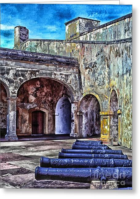 Puerto Rico Digital Greeting Cards - Castillo de San Cristobal Greeting Card by Thomas R Fletcher