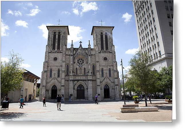 Cathedral of San Fernando Greeting Card by Karen Cowled