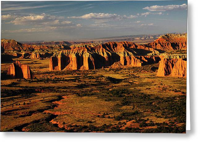 Cathedral Valley, Capitol Reef National Greeting Card by Michel Hersen