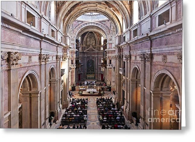 Catholic Mass Greeting Card by Jose Elias - Sofia Pereira