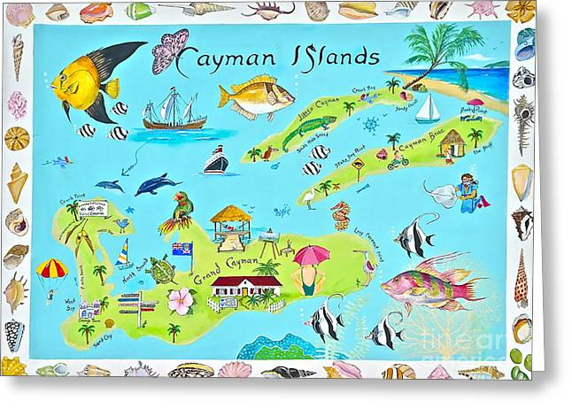Canmore Artist Greeting Cards - Cayman Islands Greeting Card by Virginia Ann Hemingson