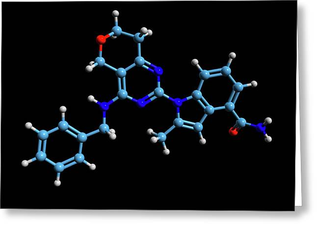 Cb-5083 Experimental Drug Molecule Greeting Card by Dr Tim Evans