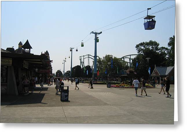 Park Greeting Cards - Cedar Point - 12124 Greeting Card by DC Photographer